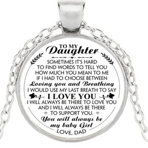Jewelry - New DAUGHTER Necklace From DAD Always My Baby Girl
